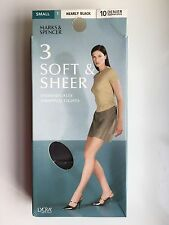 Marks and Spencer 10 Denier Tights - Small - Nearly Black - 3 Pair Bundle