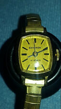 Vintage Sekonda ladies Gold Plated (AU10)  wind up 17 jewel wrist watch- working