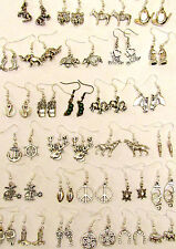 SELECTION OF HAND MADE SILVER EARRINGS GREAT CHOICE HORSE SWAN ELEPHANT ETC