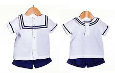 Baby Boys Spanish Romany Style Outfit Sailor Suit Top & Shorts Set by Zip Zap