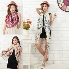 Fashion Womens Scarf Butterfly Print Long Soft Voile Scarf Warm Wrap Shawl Stole