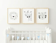 """Modern Animals Prints Set of 3 size in 10"""" x 8"""", A4, A3  - 8 styles"""