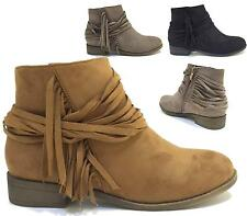 New Womens Pull On Zip Flat Chelsea Ankle Boots Fashion Smart Ladies Pixie Shoe