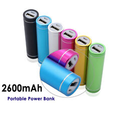 Portable External USB 2600mAh Cell Phone Battery Charger Power Bank US Shipping