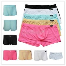 Men's Smooth Bulge Pouch Boxer Briefs Shorts Bikini Underwear Underpants Trunks