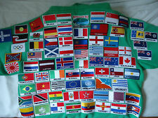 National Country Flag Embroidered Iron / Sew On Badge Patch From Souvenirz UK