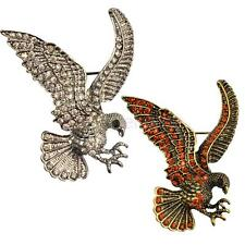 MagiDeal Retro Crystal Bird Eagle Animal Brooch Pin Clothing Jewelry Accessories