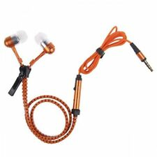 In-Ear Zip Zipper Stereo Hands-free Headphone Earphone Earbud & Mic - Mobile
