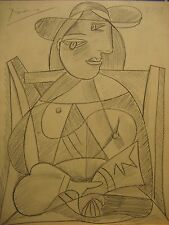 Original,Charcoal Drawing, Signed, Pablo Picasso, Painting, Matisse, Braque era