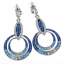 Drop&dangle earrings bling fashion jewelry gifts for women ED07 silver crystal