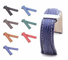 BOB Genuine Shark Deployment Strap for Breitling, 20-24 mm, 7 colors, new!