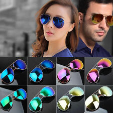 Unisex Vintage Retro Women Men Glasses Mirror Lens Sunglasses Fashion GV