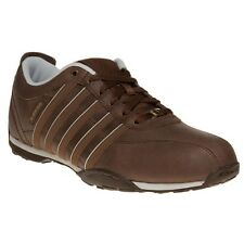 New Mens K-Swiss Brown Arvee 1.5 Leather Trainers Lace Up