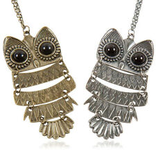 Vintage Woman Chain Long Necklace Necklace Owl Owl Pendant Costume Jewelry