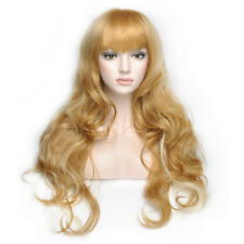 Boho Cosplay Party Wavy Blonde Mix Middle Long Curly Hair Girls Womens Wigs HOT