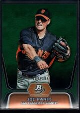 JOE PANIK /399 $20 MINT GIANTS ROOKIE GREEN REFRACTOR 32 RC 2012 BOWMAN PLATINUM