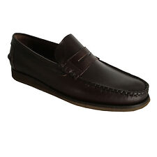 ICON LAB man's loafer unlined dark brown mod 740312 100% leather, rubber sole