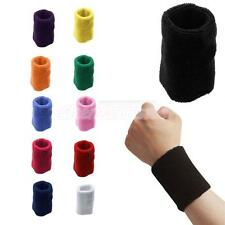 Unisex Soft Comfort Cotton Wrist Sweat Band Wristband Sports Tennis Yoga Running