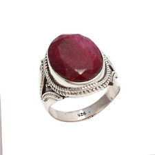 RUBY CHECKER SOLID 925 STERLING SILVER FASHIONABLE RING CUSTOM SIZE 5,6,7,8,9,10