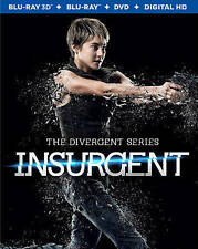 The Divergent Series Insurgent 3D Blu-Ray DVD 3-Disc Pre-Owned Free Shipping