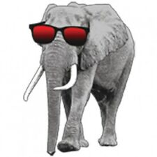 Elephant with Sunglasses T-Shirt Funny Cute Cool Animal Tee