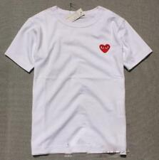 New Cotton Men's Comme Des Garcons CDG Play Eyes Lovely red Heart Short T-shirts