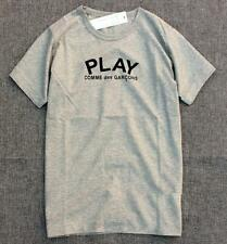New Men's Comme Des Garcons CDG Play Letters Black Heart Short Cotton T-shirts