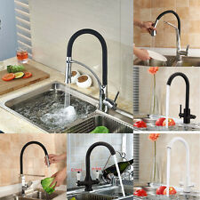 Pull Out Spout Hot/Cold Water Kitchen Basin Sink Vanity Faucet Mixer Tap