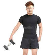 Polyester Men Sports Shorts  Casual Trousers Jogging Running Gym Pants New F6G6