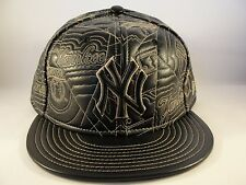 MLB New York Yankees New Era 59FIFTY Fitted Hat Cap Brown Leather