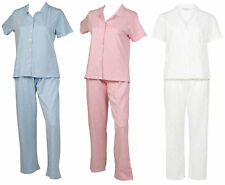 Pyjamas Womens Polka Dot Slenderella PJs Set Short Sleeve Button Up Top Bottoms