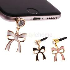 MagiDeal Bowknot Anti Dust Plug Phone Stopper Cap 3.5mm Phone MP3 Enamel Jewelry