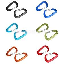 2PCS 5KN Alloy Spring Gate Carabiner Clip Hook Hammock Hanging Backpack Buckle