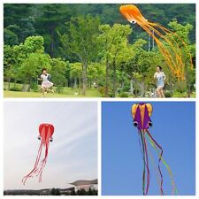 4M Frameless Single Line Stunt Parafoil Octopus POWER Sport Kite Outdoor Fun Toy