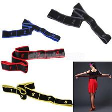 8 Loops Latin Dance Training Band Fitness Yoga Stretching Strap Workout Gym