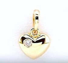 HEART DIAMOND PENDANT PETITE 14k Yellow,Rose,White Gold & Platinum .02 ctw VIDEO