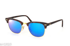 AUTHENTIC MEN CLUBMASTER CRYSTAL SUNGLASSES RAY BAN RB3016-5 100%UV FROM ITALY
