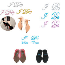 MagiDeal I Do Me Too Rhinestone Bride Groom Shoes Sticker Diamante Crystal Decal