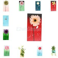 Wooden Plaque 3D Artificial Flower Wall Hanging Board Living Room Home Decor