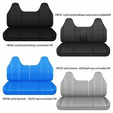 CC Ford f 150-250-350 cotton bench seat cover with molded headrest Select style