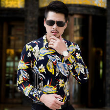 Mens Shirts Long Sleeve Big Size Dress Floral Business Gentr Casual Shirts Tops