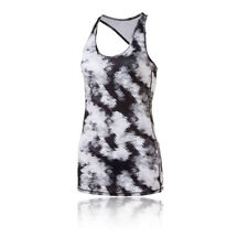 Puma Essential Layer Womens White Black Racerback Running Vest Tank Top Singlet