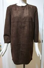 NWT $179 Chico's Zip Detail Faux Suede Jacket, Cocoa Bean, 1 (S), 2 (M), 3 (L)