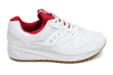 Saucony Grid 8500 in White/Red S70286-5 Size 8-13 Brand New in Box Free Shipping