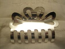 """STERLING SILVER HAIR CLAW 2.5"""" WIDE TAXCO MEXICO 5 VARIATIONS LARGE"""