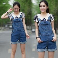 Women Fashion Loose Jeans Jumpsuit Denim Overall Hot Shorts Suspenders Dungarees
