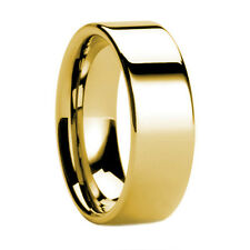 8MM Tungsten Wedding Ring Band 8K Gold IP Pipe Cut 7-12
