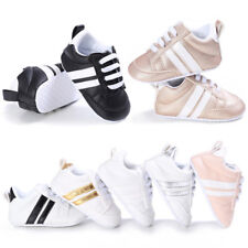 Baby Kid Boys Gilrs PU Leather Crib Shoes Soft Toddler Shoes Sneakers 0-18 Month