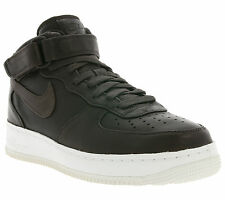 NEW NIKE Nikelab Air Force 1 Mid Real leather Sneaker Trainers Brown 905619 200