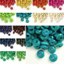 30g(400pcs About) Wooden Spacer Wood Beads 3x6mm Rondelle Crafts Findings DIY